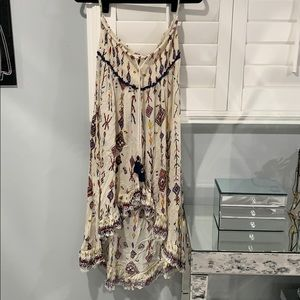 Z&L tribal printed creme long skirt